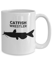 Catfish Wrestler White Ceramic 15oz. Coffee Cup