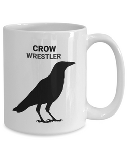 Crow Wrestler White Coffee Cups