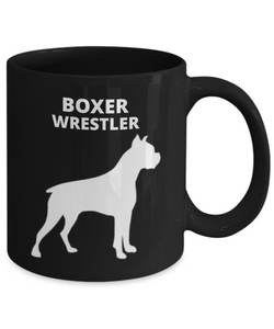 Boxer Wrestler Black Coffee Cup