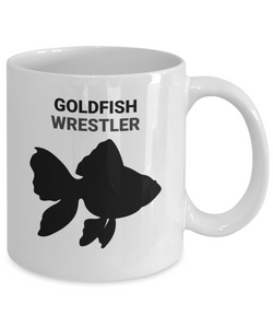 Goldfish Wrestler White Coffee Cups