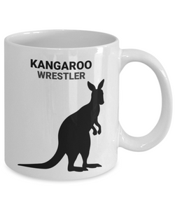 Kangaroo Wrestler White Coffee Cups
