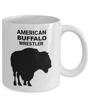 AMERICAN BUFFALO WRESTLER,  White Coffee Cups