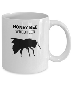 Honey Bee Wrestler White Coffee Cups