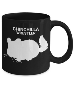 Chinchilla Wrestler Black Coffee Cup
