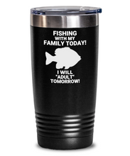 Fishing With My Family Today Black Tumbler