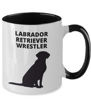 LABRADOR RETRIEVER WRESTLER, Two-Tone, 11oz. Ceramic, Coffee Cup