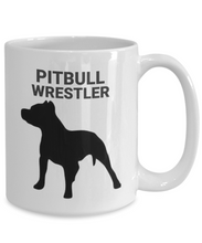 Pitbull Wrestler White coffee Cup