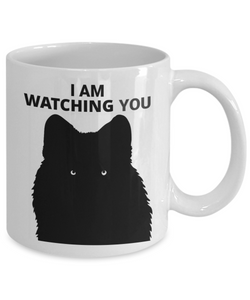 I Am Watching You White Coffee Cups