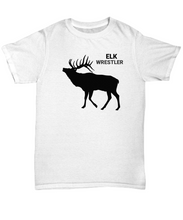 Elk Wrestler Adult T-Shirt