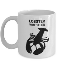 Lobster Wrestler White Coiffee Cups