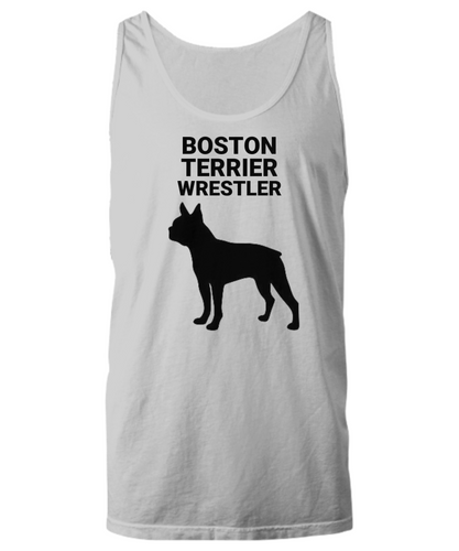 Boston Terrier Wrestler, Cotton, Unisex, Tank Tops