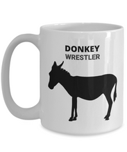 Donkey Wrestler White Coffee Cups