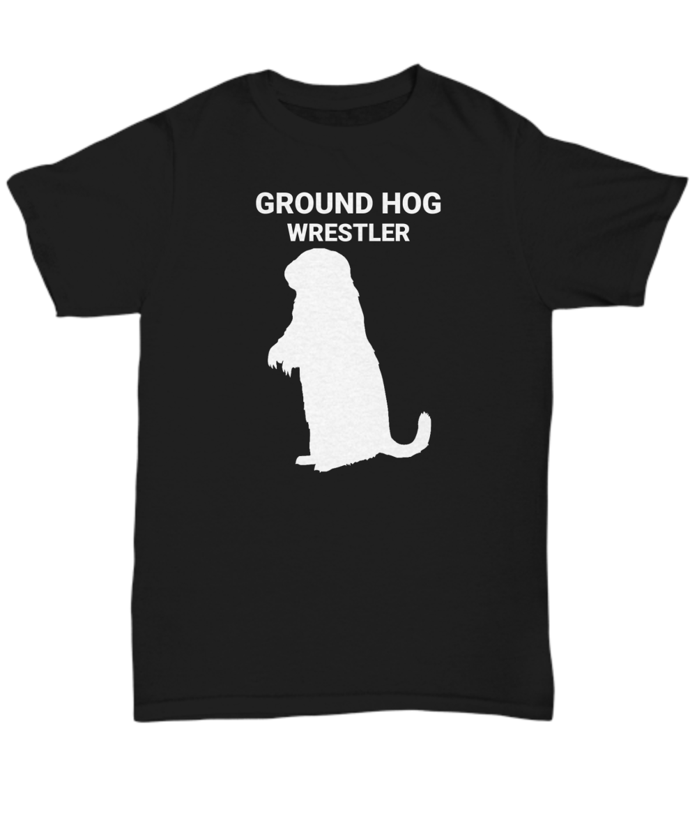 Groundhog Wrestler Adult T-Shirts