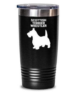 Scottish Terrier Wrestler Black Tumbler