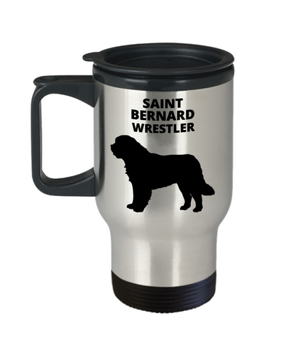 SAINT BERNARD WRESTLER, Stainless Steel, Vacuum Insulated, Travel Mug