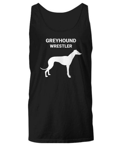 GREYHOUND WRESTLER, Cotton, Unisex, Tank Tops