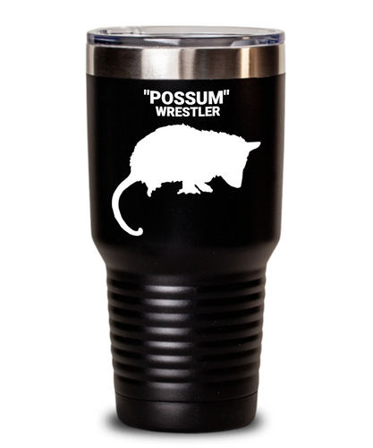 """Possum"" Wrestler Black Tumblers"