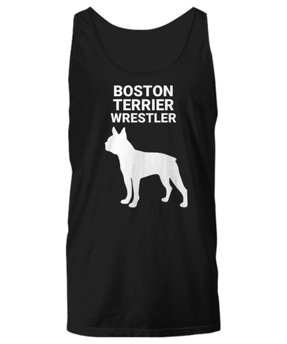 Boston Terrier Wrestler, Unisex, Cotton, Tank Tops