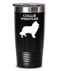 Collie Wrestler Black 20oz. Tumbler