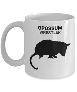 Opossum Wrestler White 11oz. Coffee Cup