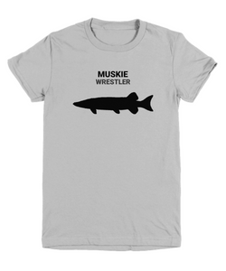 Muskie Wrestler Gray Youth T-Shirt