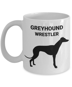 GREYHOUND WRESTLER, Ceramic, White, Coffee Cups