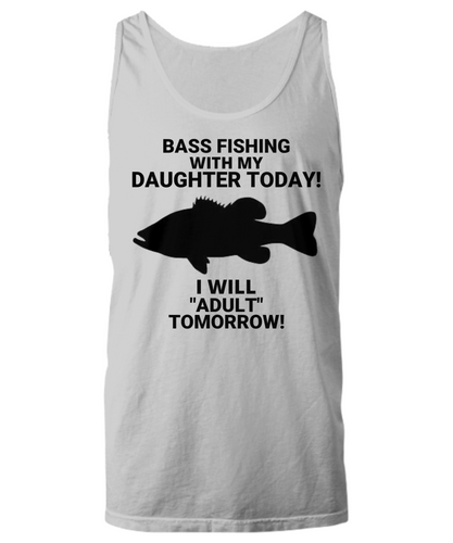 Bass Fishing With My Daughter Today! Unisex Tank Top