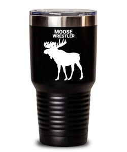 Moose Wrestler Black Tumblers