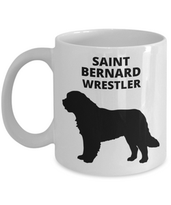 SAINT BERNARD WRESTLER, White, Ceramic, Coffee Cups