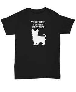 YORKSHIRE TERRIER WRESTLER, Adult, Unisex, Cotton, T-Shirts