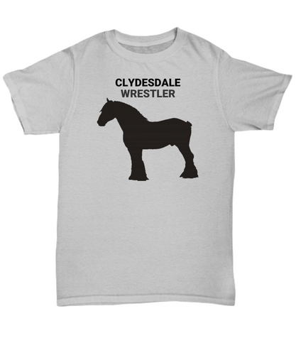 Clydesdale Wrestler Gray Adult T-Shirt