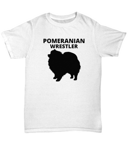 Pomeranian Wrestler Adult T-Shirt