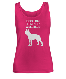 Boston Terrier Wrestler, Women's, Tank Tops