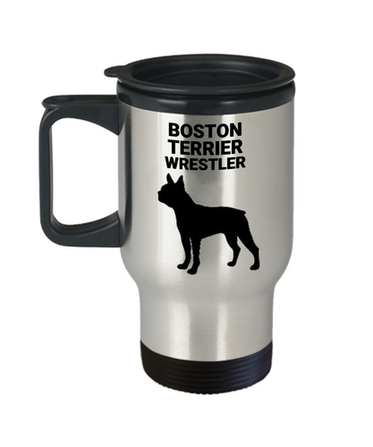 Boston Terrier Wrestler, Travel Mug