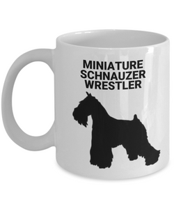 MINIATURE SCHNAUZER WRESTLER, White, Coffee Cups