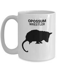 Opossum Wrestler White 15oz. Coffee Cup