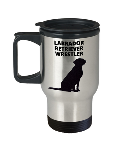 LABRADOR RETRIEVER WRESTLER, Travel Mug