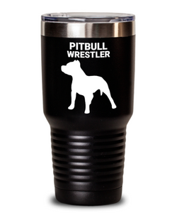 Pitbull Wrestler Black Tumblers