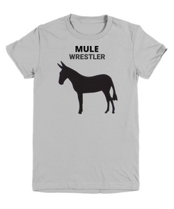 Mule Wrestler Gray Youth T-Shirt