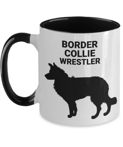 BORDER COLLIE WRESTLER, Two Tone, Ceramic, Coffee Cup