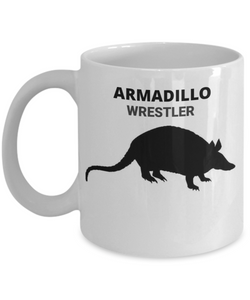 ARMADILLO WRESTLER, Ceramic, White Coffee Cups