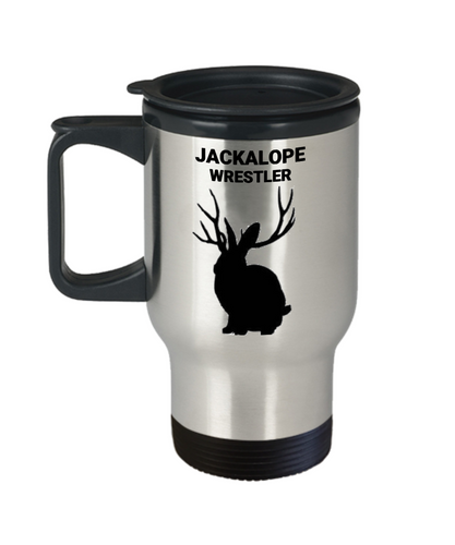 Jackalope Wrestler Travel Mug