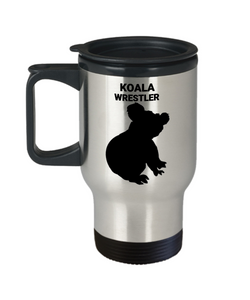 Koala Wrestler Insulated Travel Mug