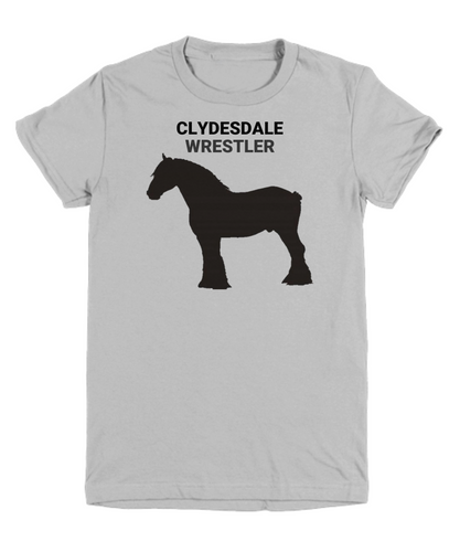 Clydesdale Wrestler Gray Youth T-Shirt