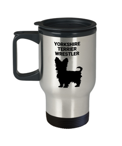 YORKSHIRE TERRIER WRESTLER, Travel Mug