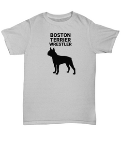 Boston Terrier Wrestler, Cotton, Adult, T-Shirts