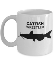 Catfish Wrestler White Ceramic 11oz. Coffee Cup