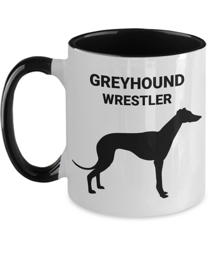 GREYHOUND WRESTLER, Two-Tone, Ceramic, Coffee Cups