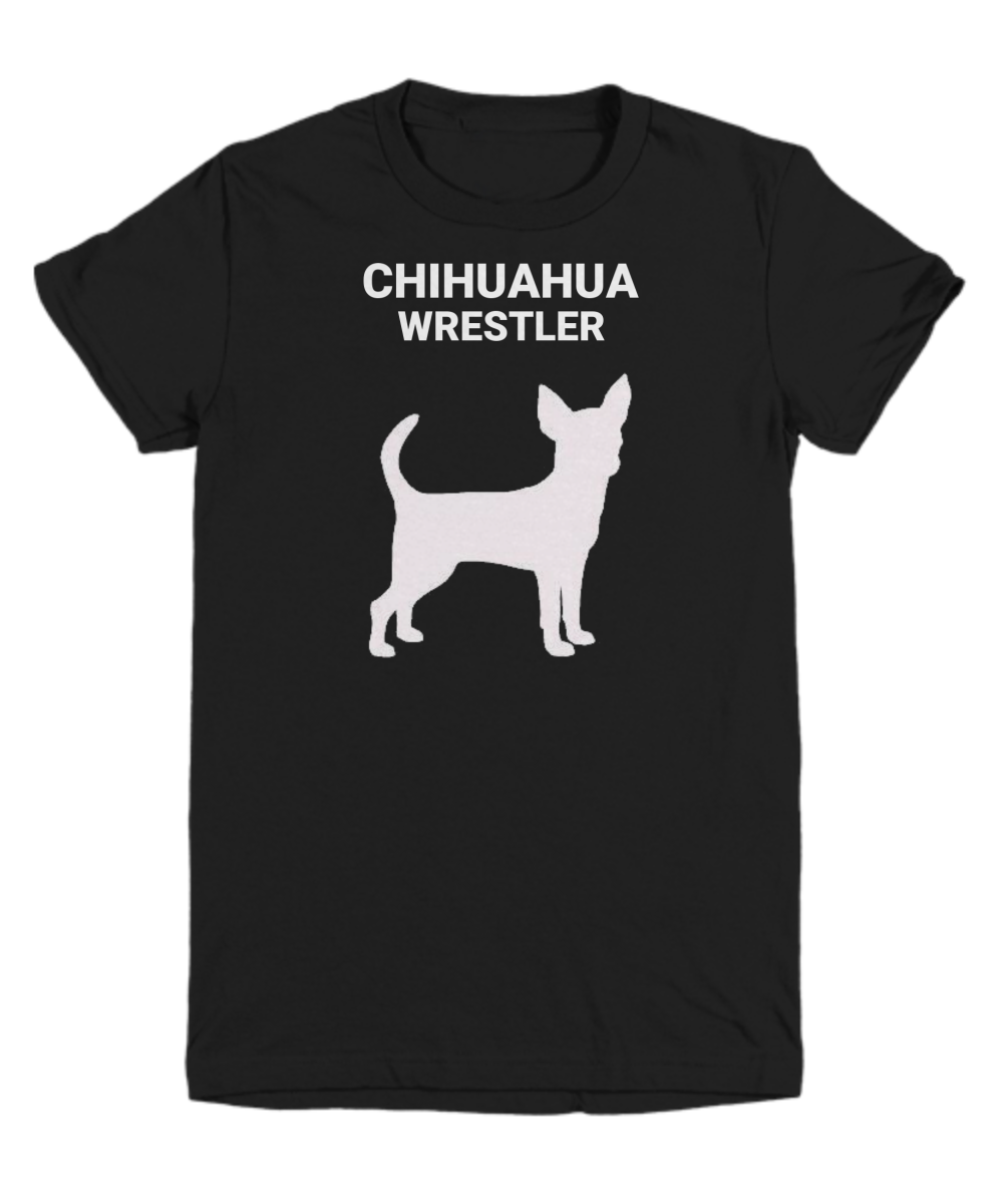 Chihuahua Wrestler Black Youth T-Shirt