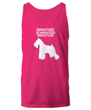 MINIATURE SCHNAUZER WRESTLER, Cotton, Adult, Tank Tops